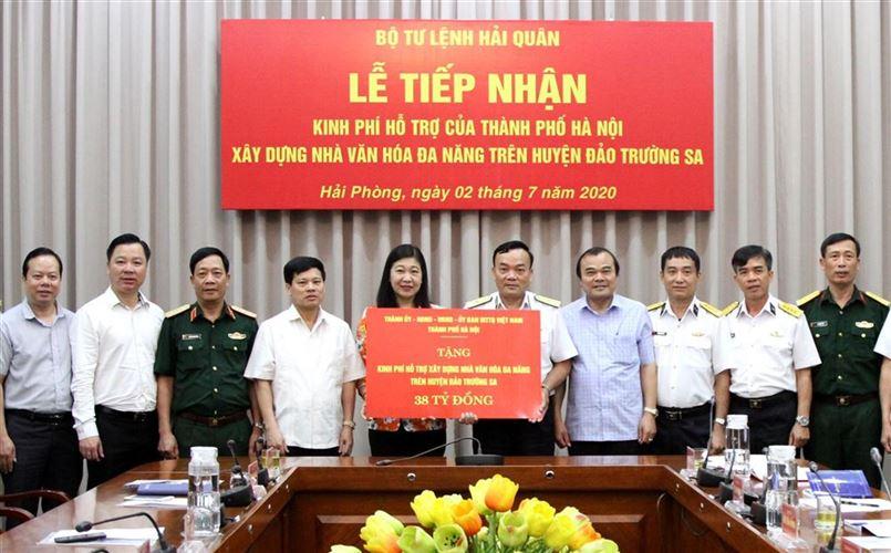 Hà Nội hỗ trợ 38 tỷ đồng xây dựng nhà văn hóa đa năng trên huyện đảo Trường Sa