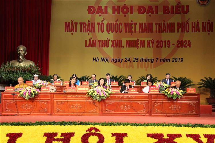 Ngày làm việc thứ nhất Đại hội đại biểu Mặt trận Tổ quốc Việt Nam thành phố lần thứ XVII, nhiệm kỳ 2019-2024