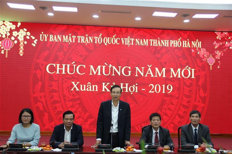Thành ủy, HĐND TP Hà Nội chúc Tết cán bộ, công chức, người lao động cơ quan Ủy ban MTTQ Việt Nam Thành phố Hà Nội