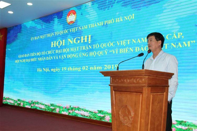 Đẩy nhanh tiến độ tổ chức Đại hội MTTQ Việt Nam cấp xã