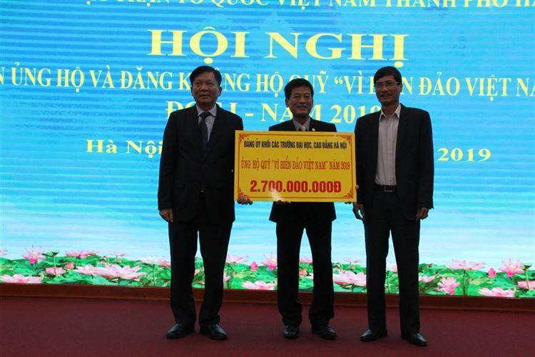 Tiếp nhận ủng hộ quỹ Vì Biển, đảo Việt Nam đợt 1 năm 2019
