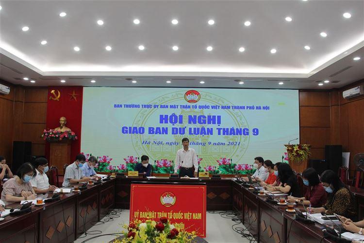 Ủy ban MTTQ Việt Nam Thành phố tổ chức Hội nghị giao ban Dư luận xã hội tháng 9