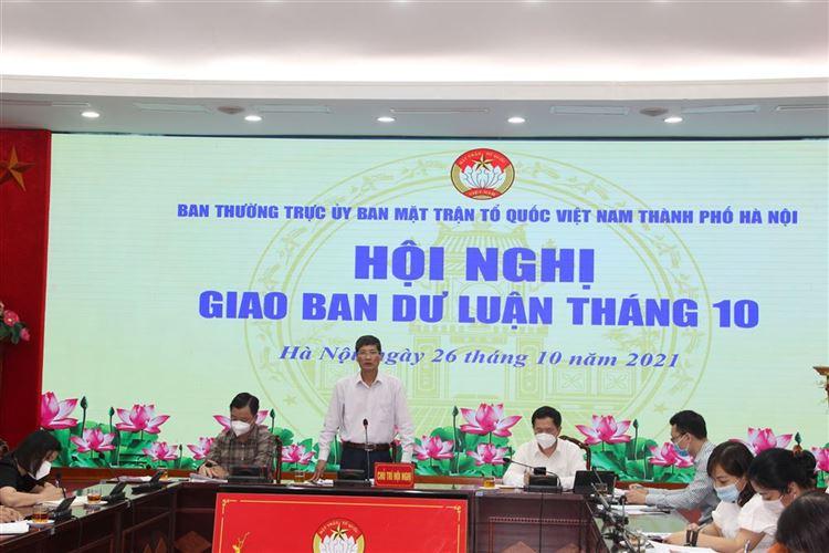 Ủy ban MTTQ Việt Nam Thành phố tổ chức Hội nghị giao ban Dư luận xã hội tháng 10