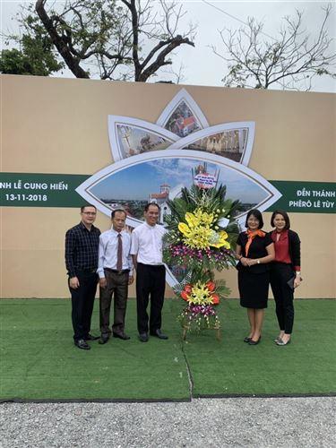 Chúc mừng Lễ cung hiến Thánh đường trung tâm hành hương Bằng Sở