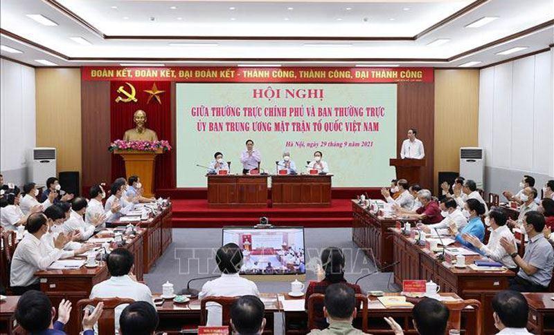 Thủ tướng Chính phủ Phạm Minh Chính: Sự phối hợp giữa Chính phủ và Mặt trận Tổ quốc Việt Nam là đòi hỏi khách quan, phù hợp với lợi ích quốc gia, dân tộc