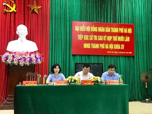 Hội nghị tiếp xúc cử tri huyện Thanh Oai sau kỳ họp thứ 15, HĐND Thành phố