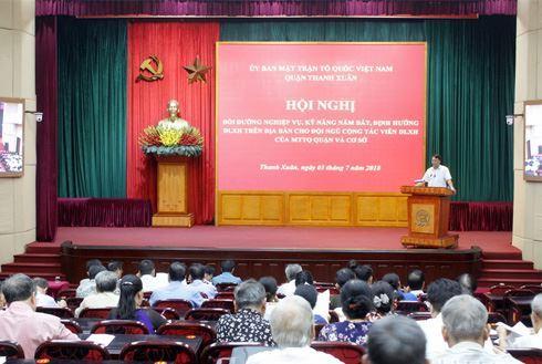Thanh Xuân tổ chức hội nghị bồi dưỡng nghiệp vụ, kỹ năng nắm bắt, định hướng dư luận xã hội