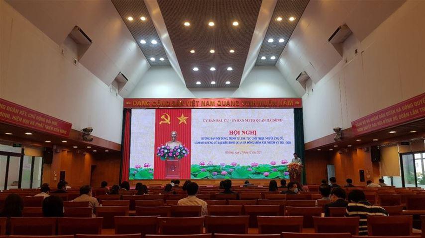 Ủy ban  MTTQ Việt Nam Quận hướng  dẫn nội dung, trình tự, thủ tục giới thiệu người ứng cử,  làm hồ sơ ứng cử đại biểu HĐND quận Hà Đông khóa XXI, nhiệm kỳ 2021 – 2026