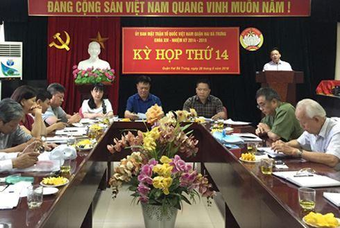 Uỷ ban MTTQ Việt Nam quận Hai Bà Trưng tổ chức kỳ họp thứ 14 khoá XIV, nhiệm kỳ 2014 - 2019