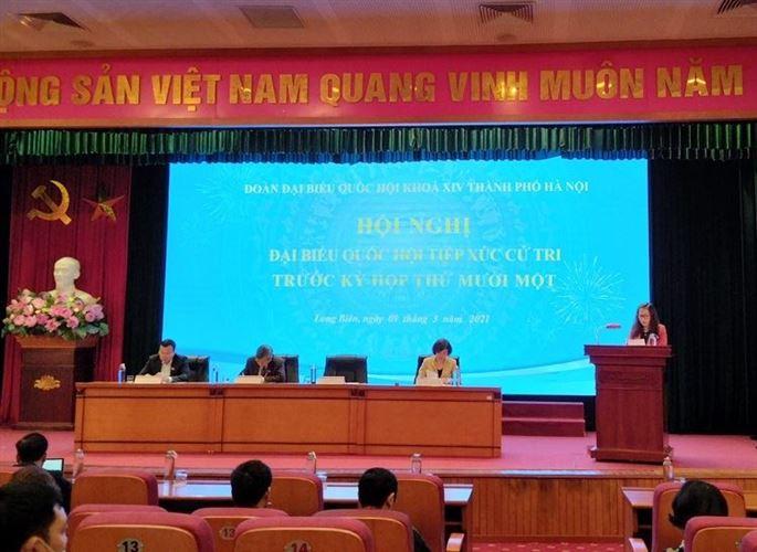 Đại biểu Quốc hội thành phố Hà Nội tiếp xúc cử tri trước kỳ họp thứ Mười Một, Quốc hội khoá XIV