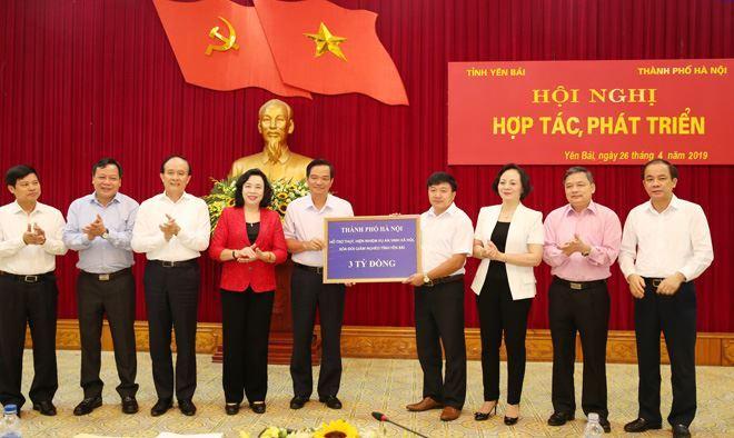 TP Hà Nội - tỉnh Yên Bái tăng cường hợp tác, phát triển