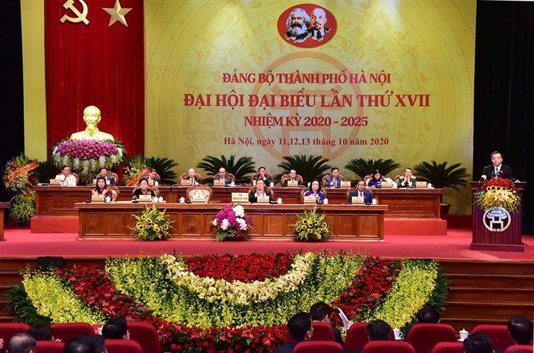16 đồng chí được bầu vào Ban Thường vụ Thành ủy Hà Nội khóa XVII