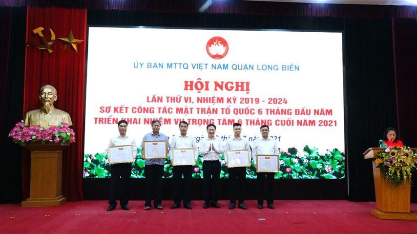 Hội nghị lần thứ VI, Ủy ban MTTQ Việt Nam quận Long Biên,  nhiệm kỳ 2019 – 2024