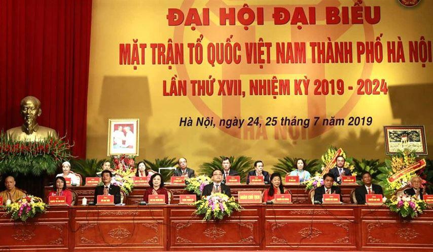 Khai mạc Đại hội đại biểu Mặt trận Tổ quốc Việt Nam thành phố Hà Nội lần thứ XVII