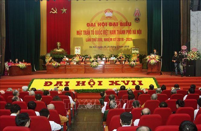 Khai mạc Đại hội đại biểu Mặt trận Tổ quốc Việt Nam TP Hà Nội