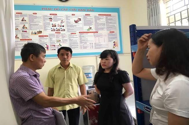 Ủy ban MTTQ Việt Nam Cầu Giấy quận phối hợp giám sát công tác y tế trường học tại một số trường học trên địa bàn quận