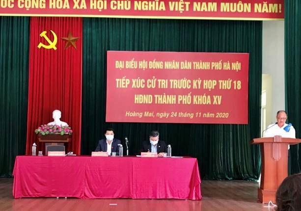 Quận Hoàng Mai tiếp xúc cử tri với đại biểu HĐND Thành phố Hà Nội trước kỳ họp thứ 18 khóa XV
