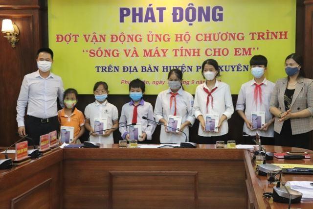 """Huyện ủy, HĐND, UBND, Uỷ ban MTTQ Việt Nam huyện Phú Xuyên phát động ủng hộ Chương trình """"Sóng và máy tính cho em"""""""