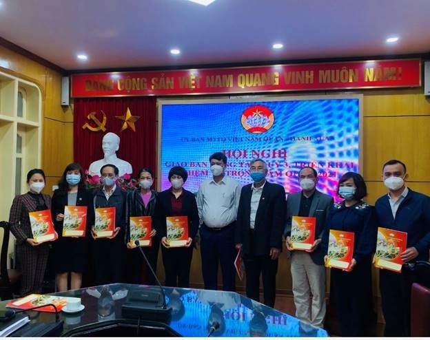 MTTQ Việt Nam quận Thanh Xuân tổ chức Hội nghị giao ban công tác quý 3, triển khai nhiệm vụ trọng tâm quý 4/2021.