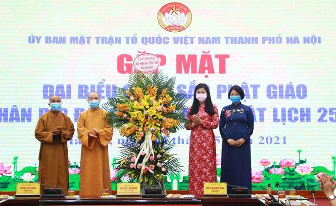 Ủy ban MTTQ Việt Nam Thành phố gặp mặt đại biểu chức sắc Phật giáo nhân dịp Đại lễ Phật Đản 2565 – DL 2021