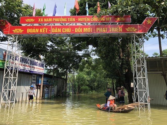 Thành phố Hà Nội hỗ trợ 500 triệu đồng cho nhân dân huyện Chương Mỹ khắc phục hậu quả cơn bão số 3