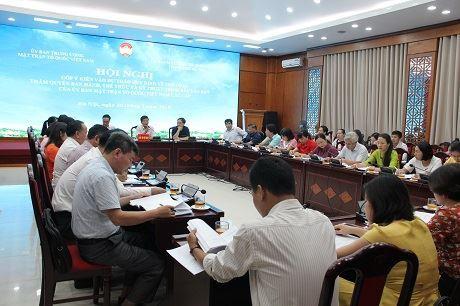 Hội nghị đóng góp vào Dự thảo hệ thống văn bản của Ủy ban TW MTTQ Việt Nam