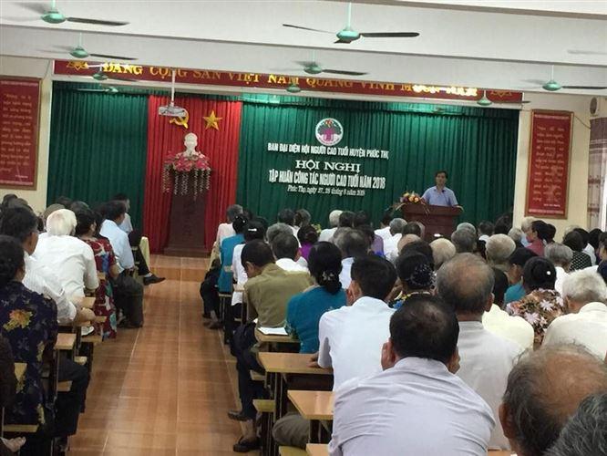 Huyện Phúc Thọ tập huấn nghiệp vụ công tác NCT năm 2018