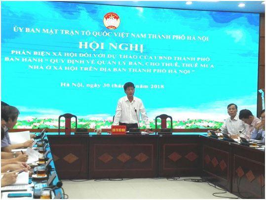 """Phản biện xã hội vào dự thảo Quyết định của UBND TP  """"Quy định quản lý bán, cho thuê, thuê mua nhà ở xã hội  trên địa bàn thành phố Hà Nội"""""""