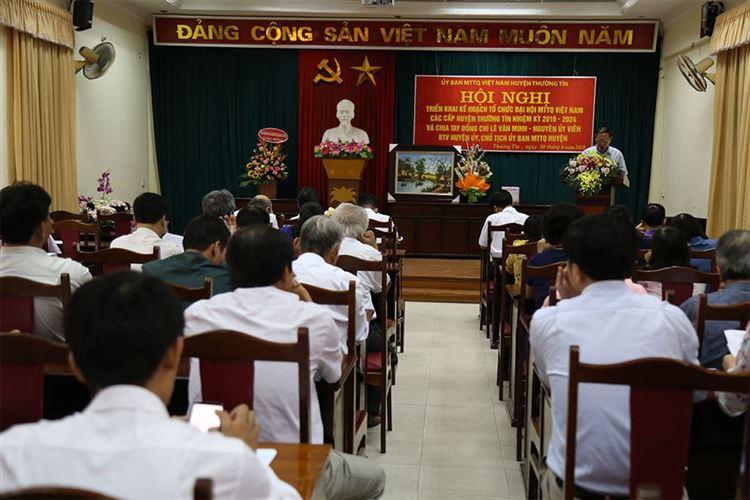 Ủy ban MTTQ Việt Nam huyện Thường Tín tổ chức hội nghị triển khai Kế hoạch tổ chức Đại hội MTTQ các cấp nhiệm kỳ 2019- 2024
