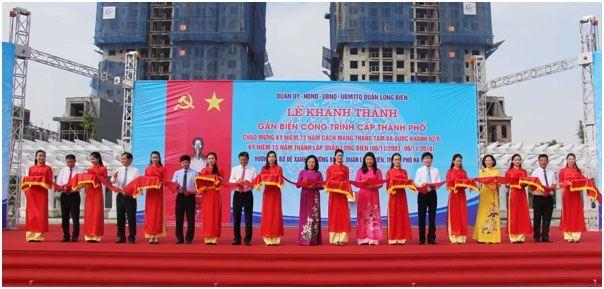 Lễ khánh thành và gắn biển công trình cấp Thành phố chào mừng kỷ niệm 73 năm Cách mạng tháng tám và Quốc khánh 02/9,  kỷ niệm 15 năm thành lập quận Long Biên