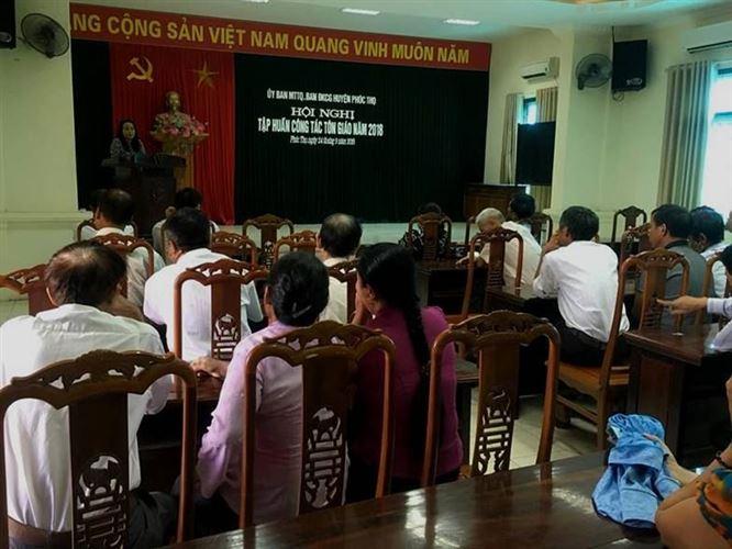 Tin tập huấn công tác Tôn giáo cho đồng bào công giáo huyện Phúc Thọ.