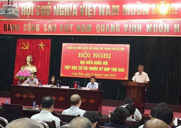 Đại biểu Quốc hội thành phố Hà Nội tiếp xúc cử tri trước kỳ họp thứ Sáu, Quốc hội khoá XIV