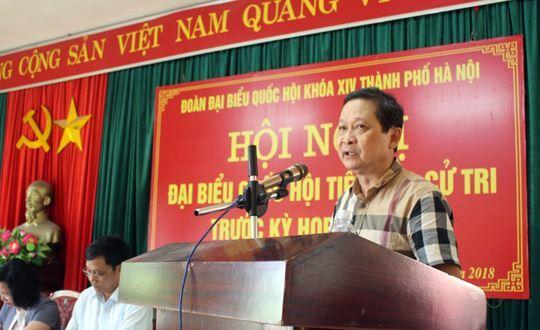 Đoàn đại biểu Quốc hội TP Hà Nội tiếp xúc cử tri tại huyện Mê Linh