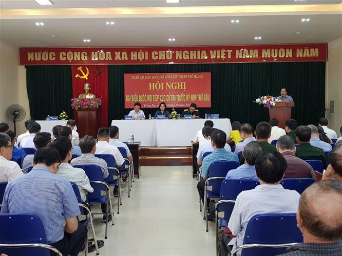 Đoàn đại biểu Quốc hội tiếp xúc cử tri quận Đống Đa trước kỳ họp thứ 6, Quốc hội khoá XIV