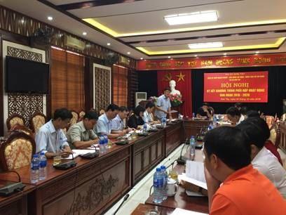 Ủy ban MTTQ Việt Nam thị xã Sơn Tây giao ban công tác tôn giáo 9 tháng đầu năm 2018.