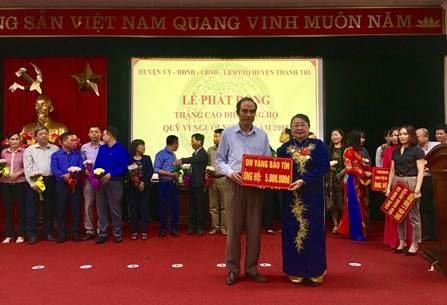 """Huyện Thanh Trì tổ chức lễ phát động đợt cao điểm ủng hộ quỹ """"Vì người nghèo"""" năm 2018"""