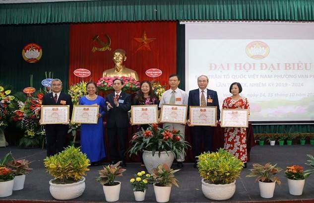Phường Vạn Phúc, quận Hà Đông tổ chức thành công Đại hội đại biểu MTTQ lần thứ XX, nhiệm kỳ 2019 - 2024 5939