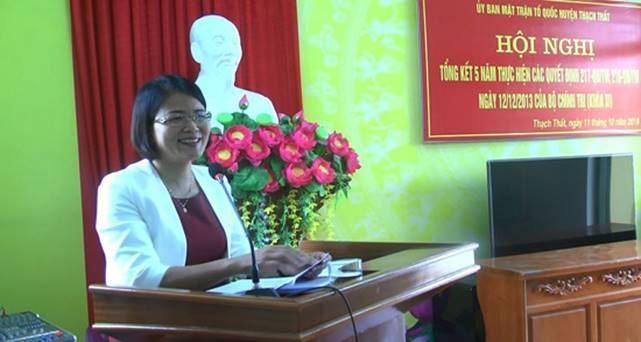Ủy ban MTTQ Việt Nam huyện Thạch Thất tổng kết 5 năm thực hiện Quyết định của TW về hoạt động giám sát