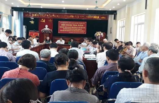 """Thanh Trì  tọa đàm """"Nâng cao chất lượng giám sát, phản biện xã hội của MTTQ Việt Nam các cấp huyện Thanh Trì"""" thực hiện quyết định 217,218 của Bộ chính trị (khóa XI)"""