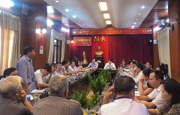 Huyện Sóc Sơn giao ban công tác tổ chức Đại hội MTTQ Việt Nam các cấp trên địa bàn huyện