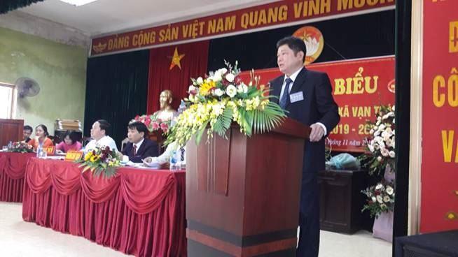 Ủy ban MTTQ Việt Nam xã Vạn Thái - huyện Ứng Hòa tổ chức Đại hội Đại biểu MTTQ Việt Nam xã nhiệm kỳ 2019 – 2024.