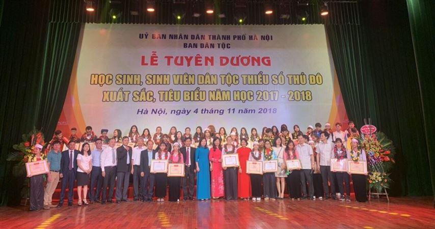 Lễ tuyên dương học sinh, sinh viên dân tộc thiểu số Thủ đô  xuất sắc tiêu biểu năm học 2017-2018