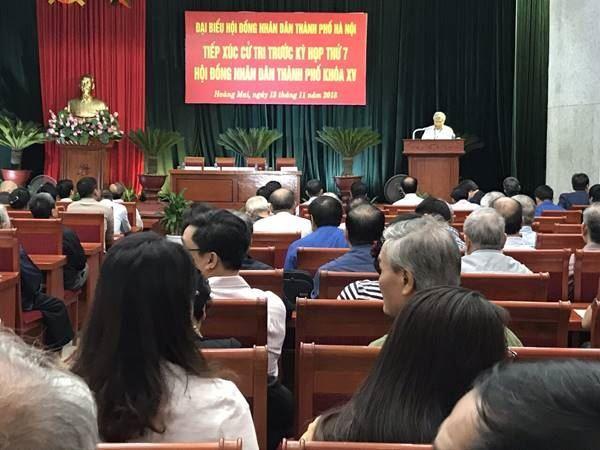 Hội nghị tiếp xúc cử tri quận Hoàng Mai với đại biểu HĐND Thành phố Hà Nội trước kỳ họp thứ 7 khóa XV