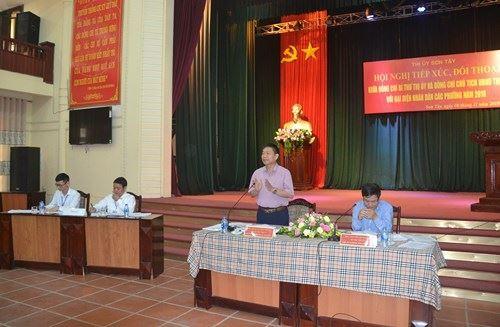 Thị xã Sơn Tây tổ chức hội nghị đối thoại trực tiếp giữa người đứng đầu cấp ủy, chính quyền với Nhân dân 9 phường
