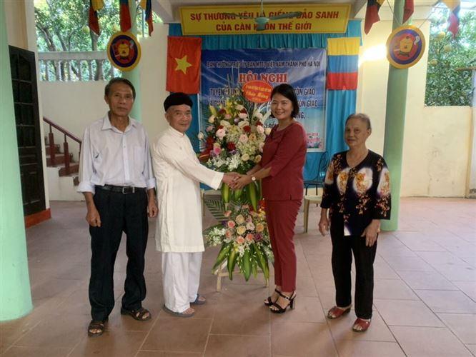 Ủy ban MTTQ Việt Nam thành phố Hà Nội thăm và chúc mừng Đại lễ khai đạo Cao Đài