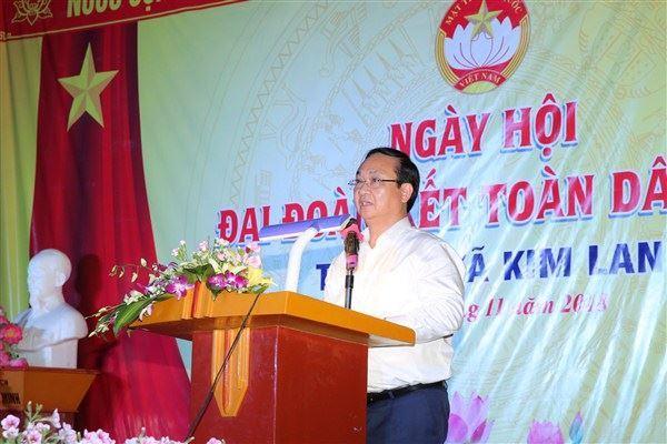Đồng chí Phó Chủ tịch UBND thành phố Nguyễn Thế Hùng dự Ngày hội Đại đoàn kết toàn dân thôn 6 xã Kim Lan, huyện Gia Lâm