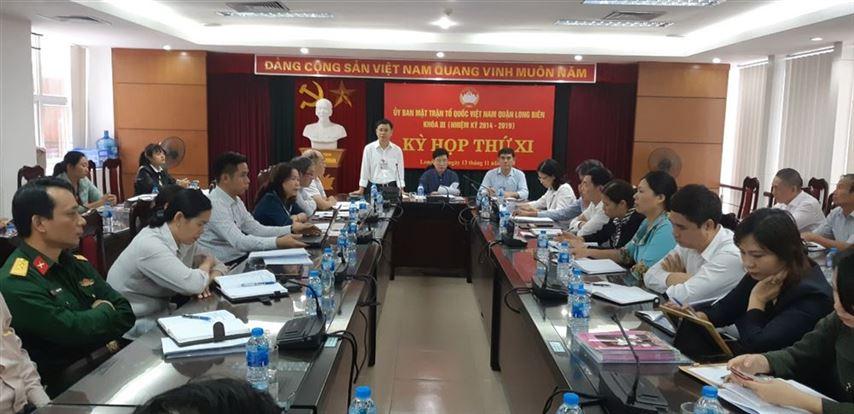 Kỳ họp thứ XI Ủy ban MTTQ Việt Nam quận Long Biên khóa III (nhiệm kỳ 2014 – 2019)