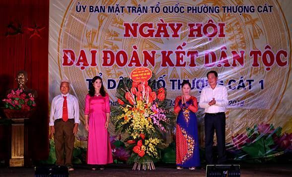 Ngày hội Đại đoàn kết toàn dân tộc ở tổ dân phố Thượng Cát 1, phường Thượng Cát quận Bắc Từ Liêm