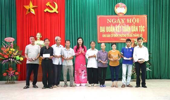 Ngày hội Đại đoàn kết ở thôn Phương Cù, xã Thắng Lợi, huyện Thường Tín