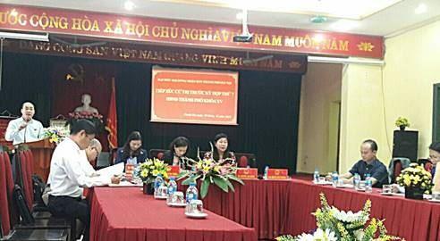 Đại biểu HĐND Thành phố khóa XV tiếp xúc với cử tri  huyện Thanh Trì trước kỳ họp thứ 7